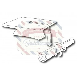 Fustella metallica Cappello laurea e diploma