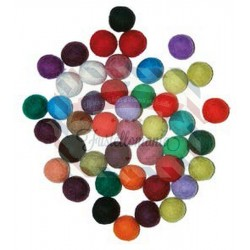 Palline in feltro 20mm 10 pezzi colori misti
