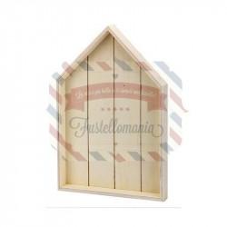 Cornice in legno Casetta con gancio 28x25