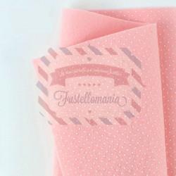 Pannolenci pois 50x45 cm colore rosa baby