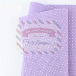 Pannolenci pois 50x45 cm colore lilla