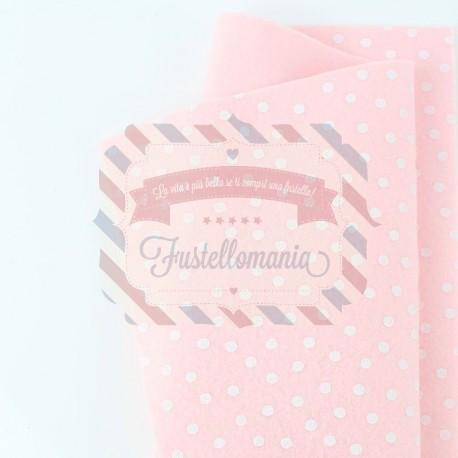 Pannolenci pois grandi 50x45 cm colore rosa