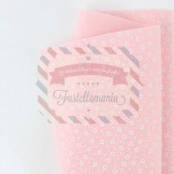 Pannolenci fiorellini 50x45 cm colore rosa baby