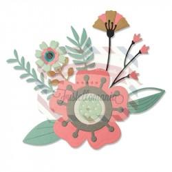 Fustella Sizzix Thinlits Creative Florals