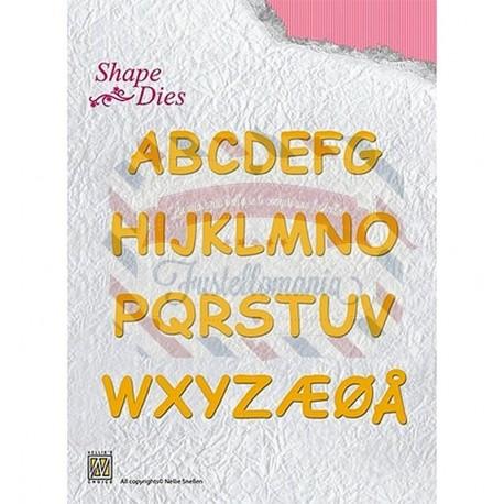 Fustella metallica Nellie's Choice Alphabet