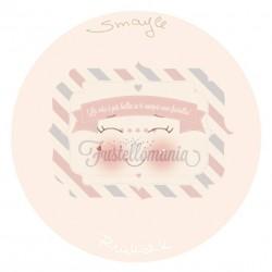 Viso stampato su tessuto Smile 13 cm per sfere da 6 cm