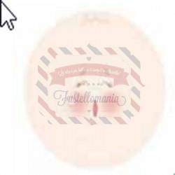 Viso stampato su tessuto Jolie 7,5 cm per sfere e uova da 4 cm