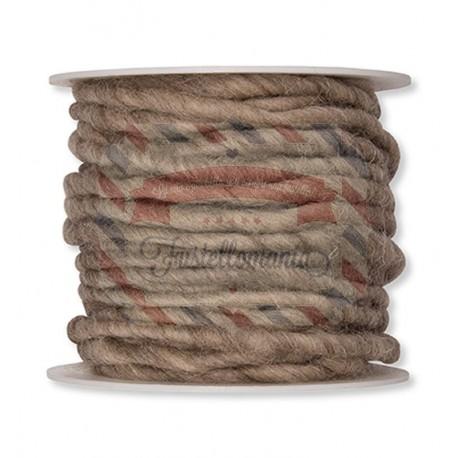 Nastro di lana con cordoncino in juta 1 metro colore a scelta