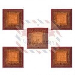 Fustella Sizzix Thinlits set 25pk stacked squares