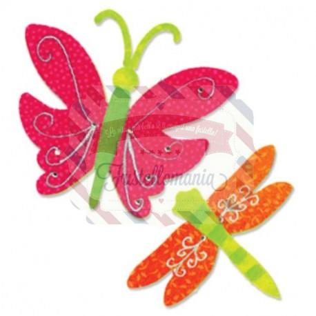 Fustella Sizzix Originals Farfalla e libellula