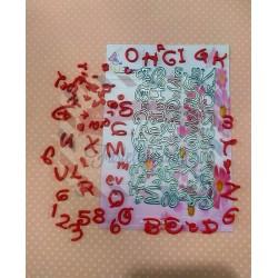 Fustella metallica Alfabeto maiuscolo e numeri Cut 10