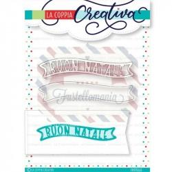 Fustella metallica Natale doppio banner