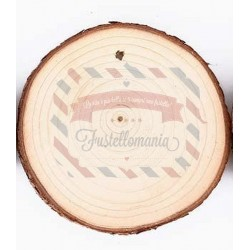 Disco in legno diametro 9 cm