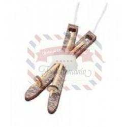 Sci di legno decorativi 6,5 cm