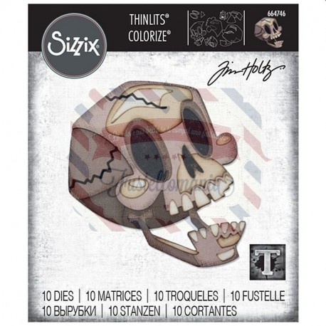 Fustella Sizzix Thinlits Skelly Colorize by Tim Holtz