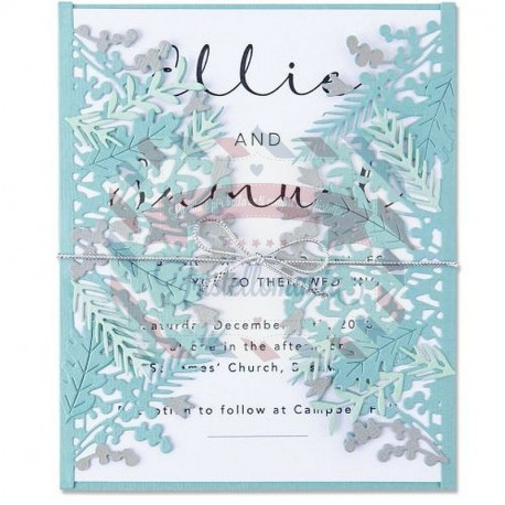 Fustella Sizzix Thinlits foliage wrap by olivia rose