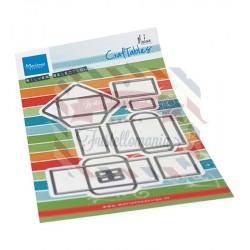 Fustella metallica Marianne Design Craftables Envelope set by Marleen