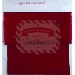 Tessuto Vedo colore cardinale 35x100 cm