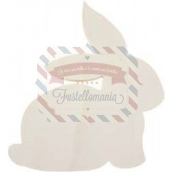 Coniglio in legno 17x15x1,5 cm