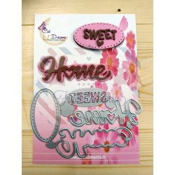 Fustella metallica scritta Sweet Home