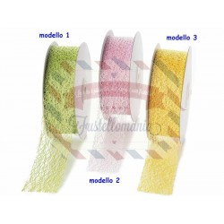 Nastro a rete colorata 1 metro x 38 mm colore a scelta