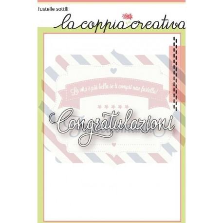 Fustella metallica Congratulazioni 2