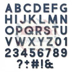 Fustella Sizzix Thinlits Alfabeto alphanumeric bold con numeri e simboli