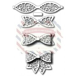 Fustella metallica Set Papillon ricamati