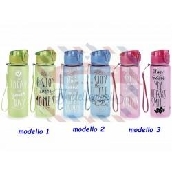 """Borraccia 500 ml tritan colorata """"Messaggi in bottiglia"""" colore a scelta"""