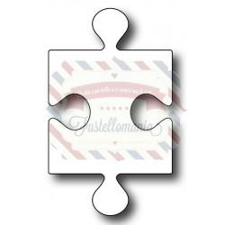Fustella metallica Pezzo di puzzle