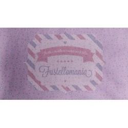 Pannolenci stampato 1mm Stelline rosa misura a scelta