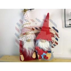 Fustella XXL Gnomo fermaporta con albero di Natale