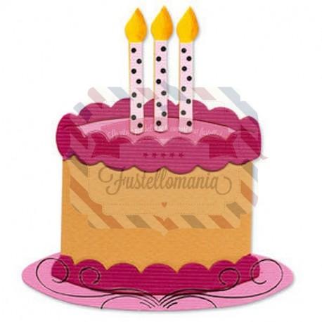 Fustella Sizzix Originals Torta di compleanno 2