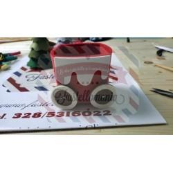 Fustella XL Scatola 3D con bordo di neve e bottone