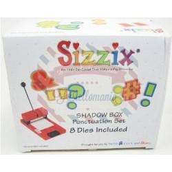 Fustella Sizzix Shadow Box Set Segni di punteggiatura