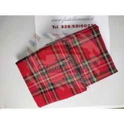 Tartan scozzese quadrati grandi 50 x 150 cm.