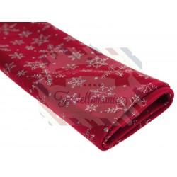 Tessuto velluto neve con glitter 50x68 cm colore a scelta