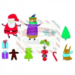 Fustella Sizzix Thinlits Doodle christmas
