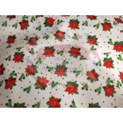 Pannolenci stampato 1mm base bianca con stelle di Natale 40x50 cm