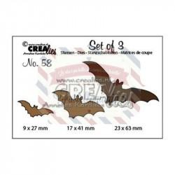 Fustella metallica Crealies Set of 3 nr 58 Bats