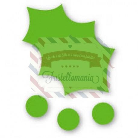 Fustella Sizzix Originals Green Agrifoglio e bacche