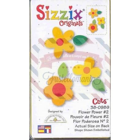 Fustella Sizzix Originals Yellow Flower Power 2