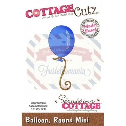 Fustella metallica Cottage Cutz Balloon round mini