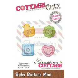 Fustella metallica Cottage Cutz Baby buttons mini
