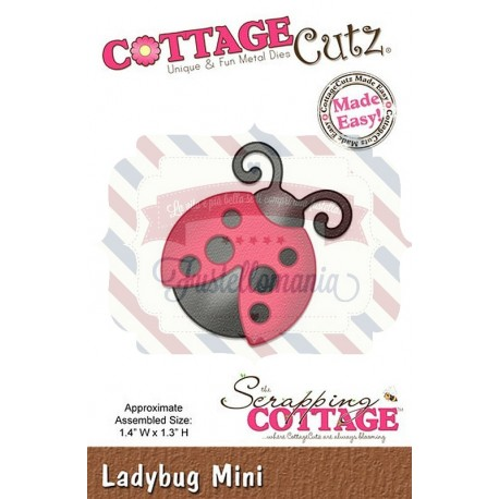 Fustella metallica Cottage Cutz Ladybug mini