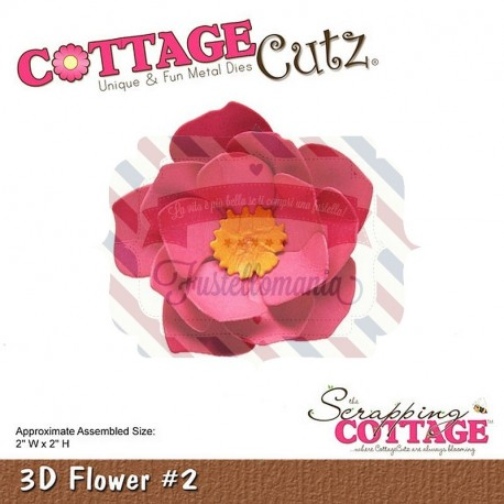 Fustella metallica Cottage Cutz 3D Flower 2