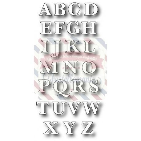 Fustella metallica Memory Box Classic Upper Alphabet