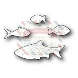 Fustella metallica PoppyStamps Aquarium Fish