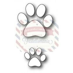 Fustella metallica PoppyStamps Puppy Paw Prints