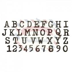 Fustella Sizzix BIGz XL Tim Holtz Alterations Alfabeto Errore tipografico maiuscolo